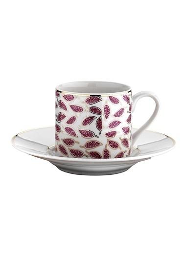 Kütahya Porselen Rüya 77492 Desen Kahve Fincan Takımı Renkli